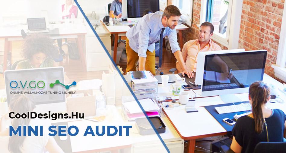 Cool Designs (mobilbarát weboldal készítés) SEO audit