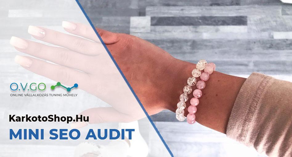Karkötő Shop webshop SEO audit